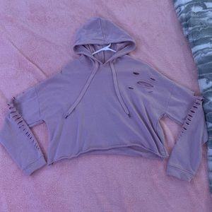 Rue21 cropped hoodie